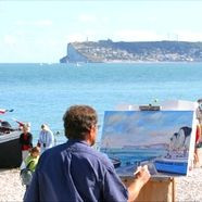 Sea and painting festival in Yport